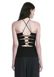ALEXANDER WANG HALTER TOP WITH BACK SLIT LACING TOP Adult 8_n_d