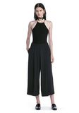 ALEXANDER WANG HALTER TOP WITH BACK SLIT LACING TOP Adult 8_n_f