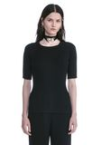 ALEXANDER WANG CREW NECK TEE WITH PIERCED SLEEVES TOP Adult 8_n_e