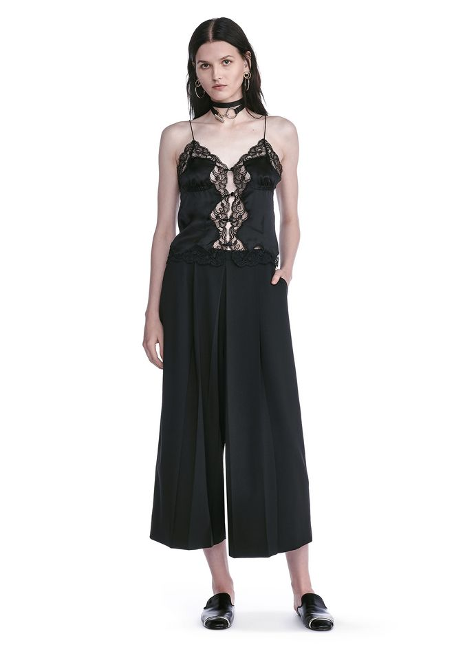 ALEXANDER WANG TOPS SILK CAMI TOP WITH CIGARETTE JACQUARD