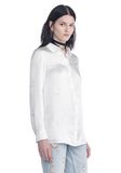 ALEXANDER WANG SILK BUTTON-UP SHIRT WITH CIGARETTE JACQUARD TOP Adult 8_n_a