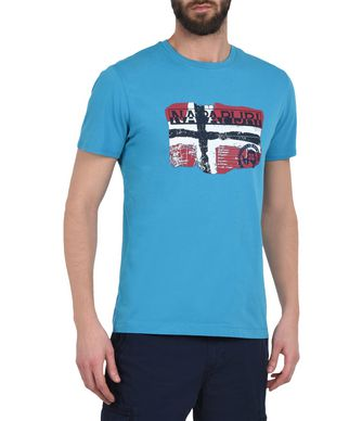 NAPAPIJRI SALENY EXCLUSIVE MAN SHORT SLEEVE T-SHIRT,TURQUOISE