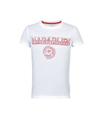NAPAPIJRI K SPARTAN KID KID SHORT SLEEVE T-SHIRT,WHITE