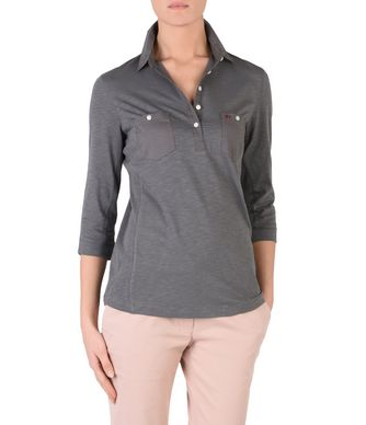 NAPAPIJRI EMY WOMAN LONG SLEEVE POLO,GREY