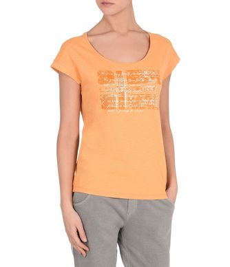 NAPAPIJRI SANDINO WOMAN SHORT SLEEVE T-SHIRT,PEACH