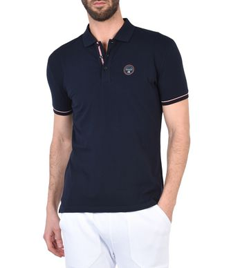NAPAPIJRI ELMONTE MAN SHORT SLEEVE POLO,DARK BLUE