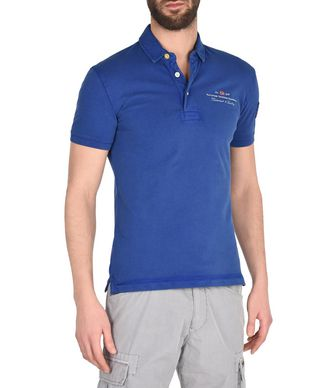 NAPAPIJRI ELBAS STRETCH MAN SHORT SLEEVE POLO,BLUE