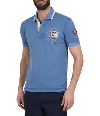 NAPAPIJRI GANDY  MAN SHORT SLEEVE POLO,PLATINE BLUE