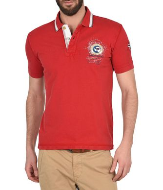 NAPAPIJRI GANDY  MAN SHORT SLEEVE POLO,RED