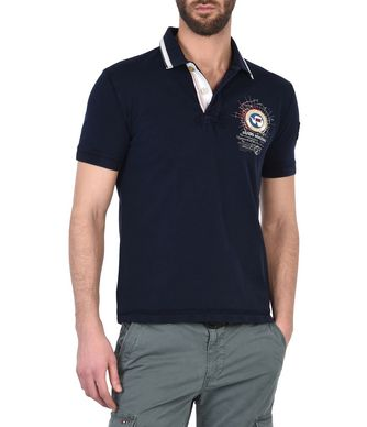 NAPAPIJRI GANDY  MAN SHORT SLEEVE POLO,DELTA