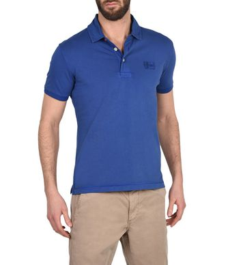 NAPAPIJRI ERSKINE EXCLUSIVE MAN SHORT SLEEVE POLO,PLATINE BLUE