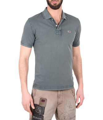 NAPAPIJRI TALY NEW MAN SHORT SLEEVE POLO,GREENHOUSE