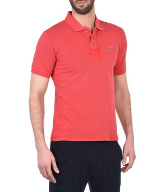 NAPAPIJRI TALY NEW MAN SHORT SLEEVE POLO,RED