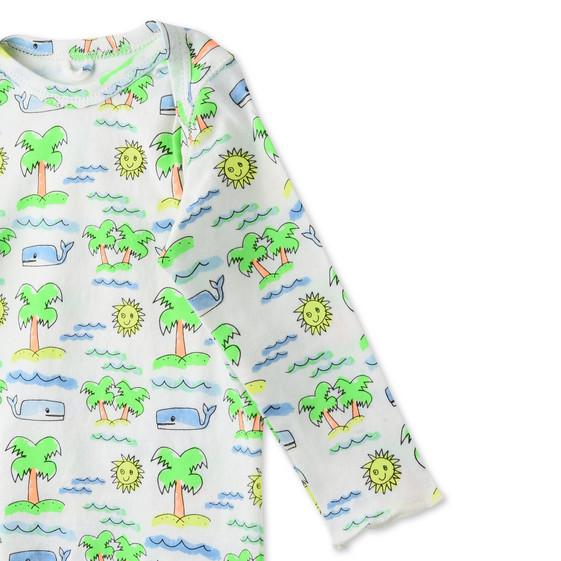 フルロ ビーチ プリント バスター Tシャツ