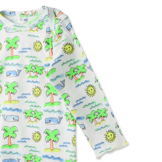 Fluro Beach Print Buster T-shirt