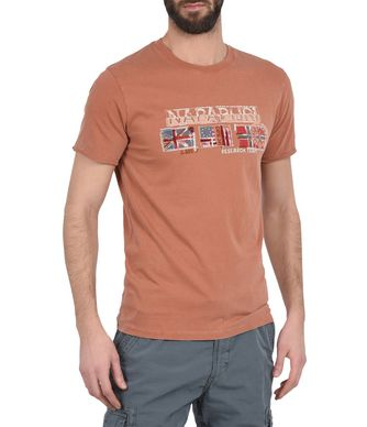 NAPAPIJRI SEMOIS MAN SHORT SLEEVE T-SHIRT,RUST