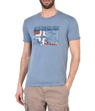 NAPAPIJRI STAFFORD MAN SHORT SLEEVE T-SHIRT,SLATE BLUE