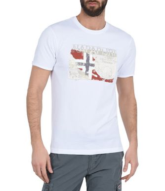 NAPAPIJRI STAFFORD MAN SHORT SLEEVE T-SHIRT,WHITE
