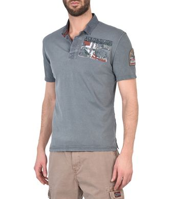 NAPAPIJRI ERIKERI MAN SHORT SLEEVE POLO,EMERALD GREEN