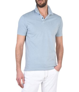 NAPAPIJRI ENAI MAN SHORT SLEEVE POLO,SKY BLUE