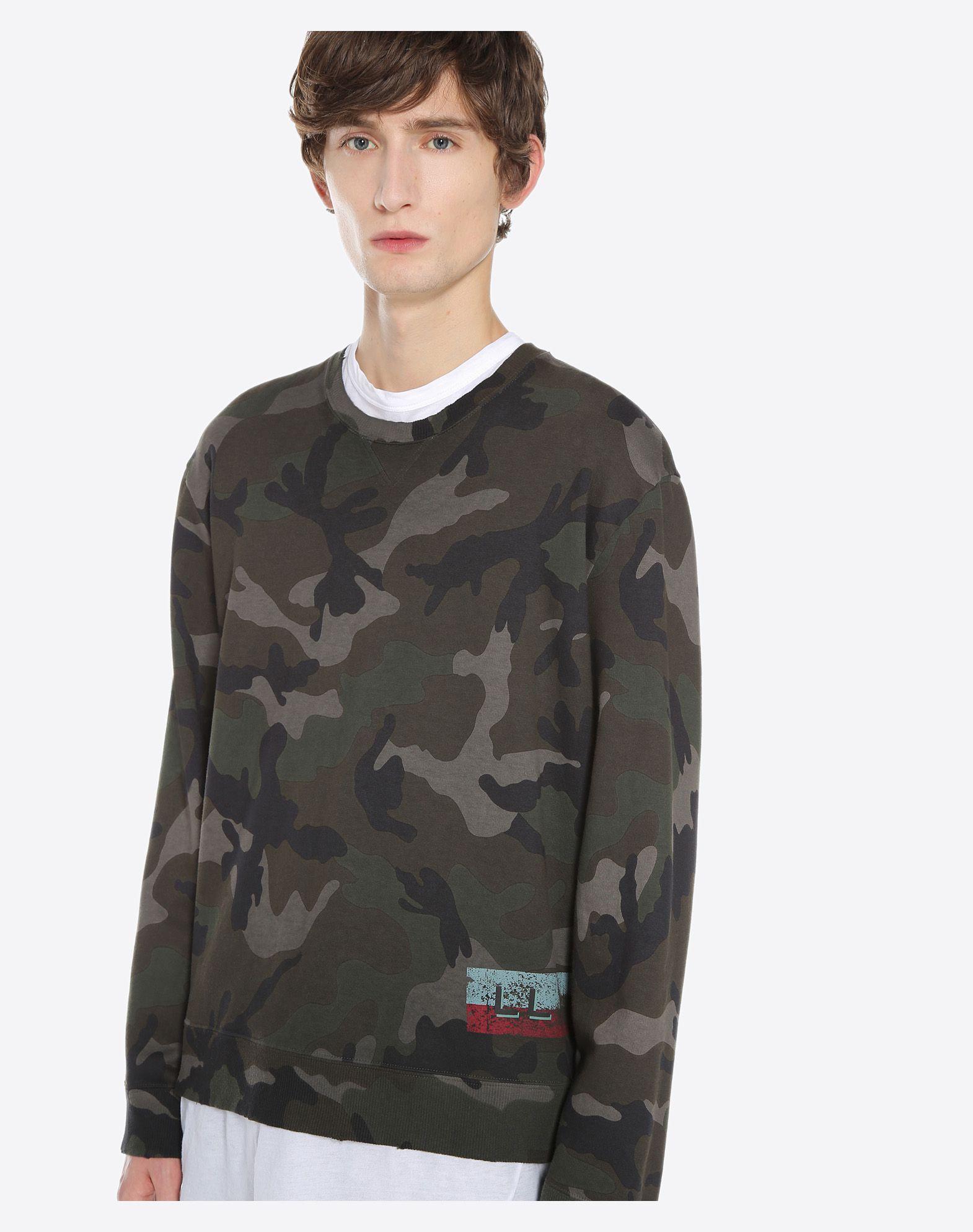 VALENTINO UOMO ID CAMOUFLAGE SWEATSHIRT Sweatshirt U a