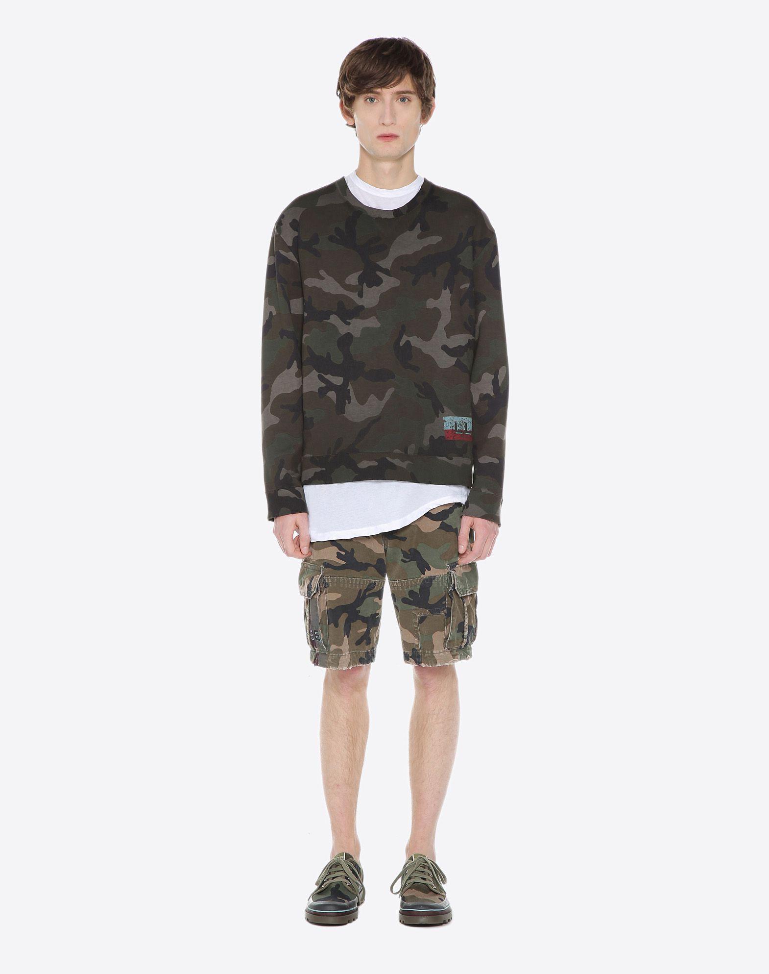 VALENTINO UOMO ID CAMOUFLAGE SWEATSHIRT Sweatshirt U r