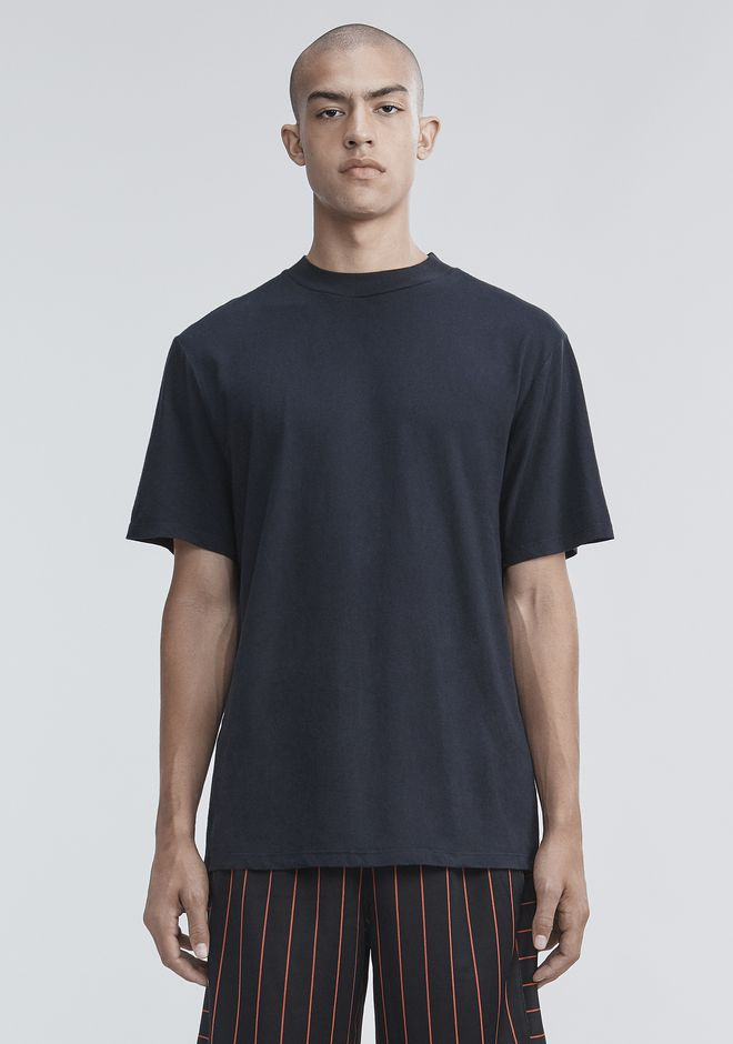 T by ALEXANDER WANG nwvmens-apparel SHORT SLEEVE HIGH NECK TEE
