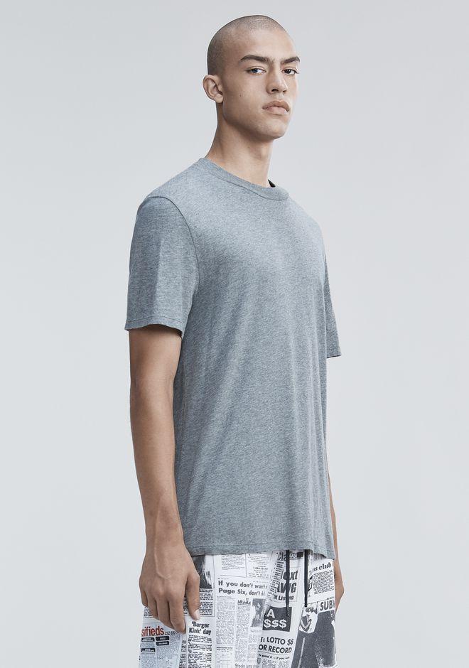 Alexander Wang High Crew Neck Cotton Jersey T Shirt Gray