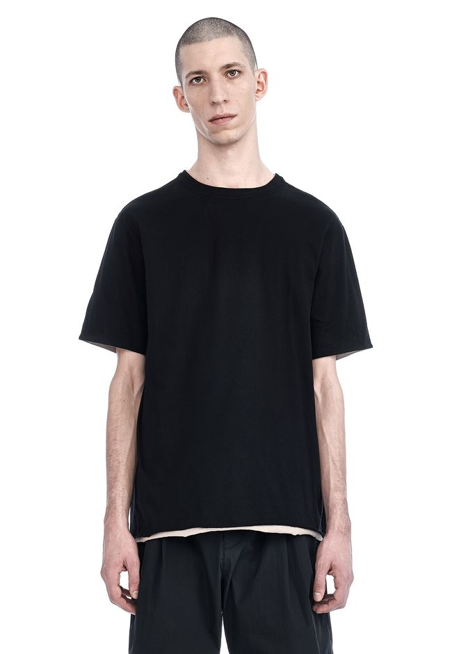 T by ALEXANDER WANG nwvmens-apparel DOUBLE LAYER SHORT SLEEVE TEE