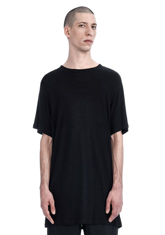 T by ALEXANDER WANG TEES Men ELONGATED SLUB SHORT SLEEVE TEE