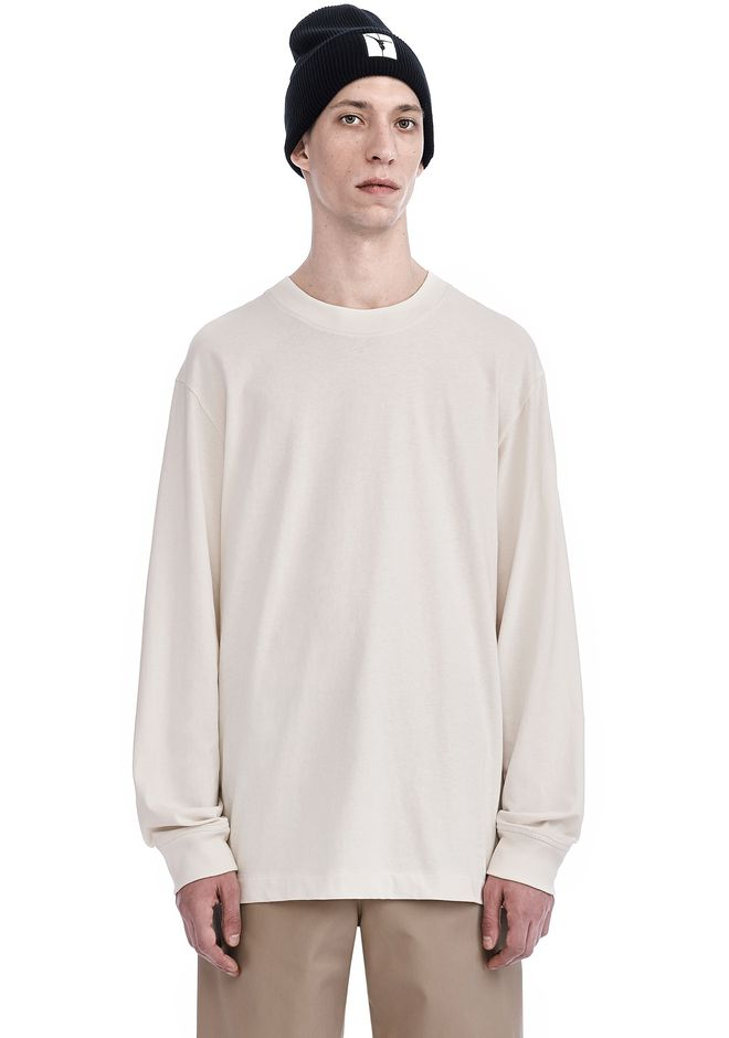 T by ALEXANDER WANG Long sleeve t-shirts Men HIGH TWIST MOCK NECK LONG SLEEVE