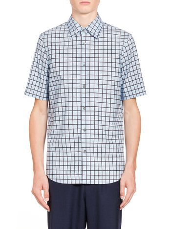 Marni Poplin shirt with Hush print Man
