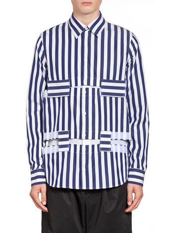 Marni Large-striped poplin shirt  Man