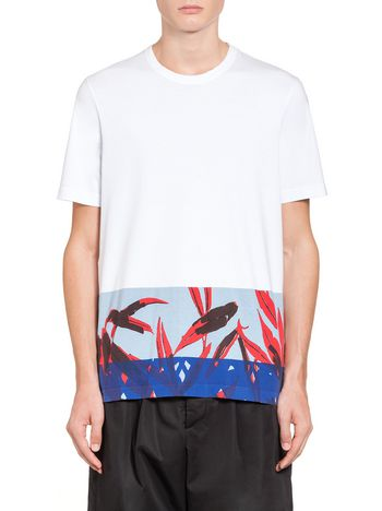 Marni T-shirt in compact jersey Swash print Man