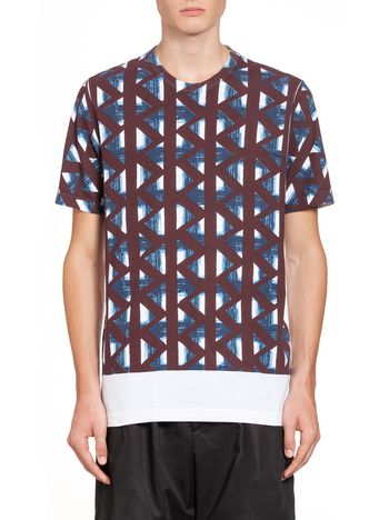 Marni T-shirt in compact jersey with Thrump print Man