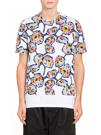 Marni T-shirt in compact jersey with Whisper print Man