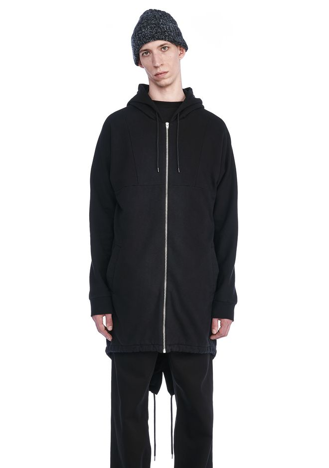T by ALEXANDER WANG HOODIES VINTAGE FLEECE ELONGATED HOODIE