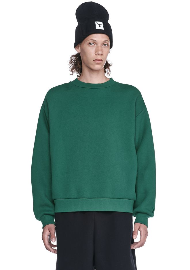 T by ALEXANDER WANG SWEATSHIRTS Men DENSE FLEECE CREWNECK SWEATSHIRT