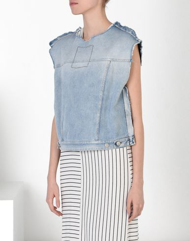 MM6 by MAISON MARGIELA Top D Double back denim top f