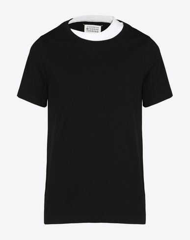 MAISON MARGIELA Double crew neck tee-shirt Short sleeve t-shirt U f