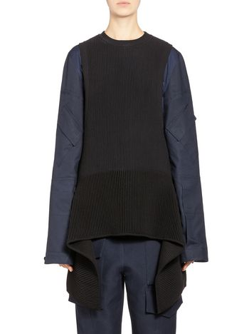 Marni Runway asymmetric cotton top  Woman