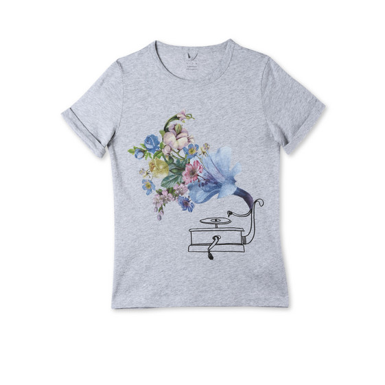 Gramophone Print Lolly T-shirt