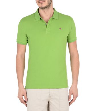 NAPAPIJRI ELDIS  MAN SHORT SLEEVE POLO,GREENERY