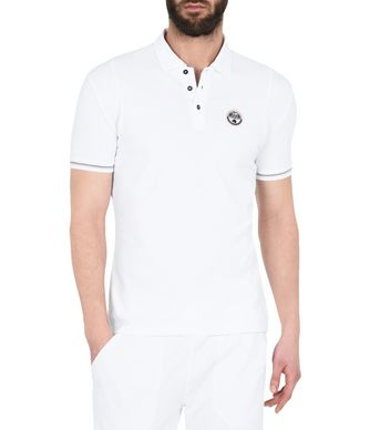 NAPAPIJRI ELMONTE WHITE MAN SHORT SLEEVE POLO,BRIGHT WHITE