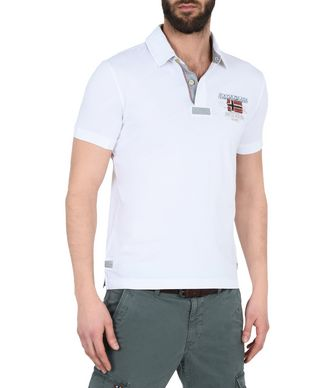 NAPAPIJRI ESTA MAN SHORT SLEEVE POLO,BRIGHT WHITE