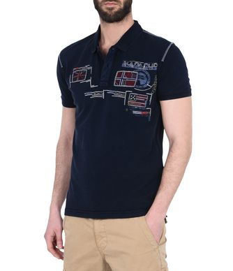 NAPAPIJRI ESCHOL MAN SHORT SLEEVE POLO,DARK BLUE