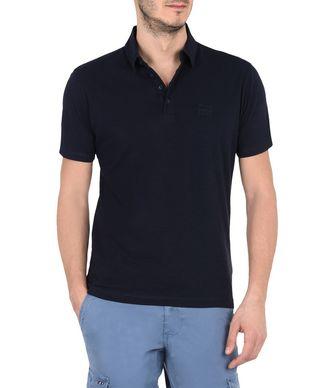 NAPAPIJRI EMIRO MAN SHORT SLEEVE POLO,DARK BLUE