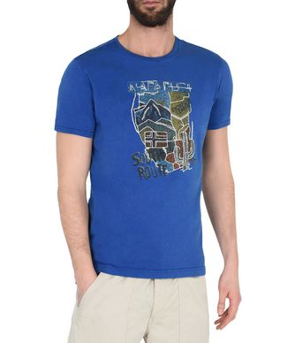NAPAPIJRI SOVER MAN SHORT SLEEVE T-SHIRT,AZURE