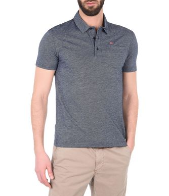 NAPAPIJRI EMERTON MAN SHORT SLEEVE POLO,DARK BLUE