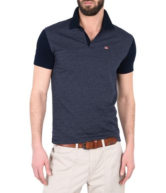 NAPAPIJRI EBER MAN SHORT SLEEVE POLO,DARK BLUE